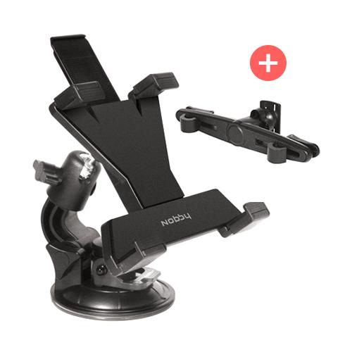 Univesal Car Holder for Tablets for Headrest and Windshield