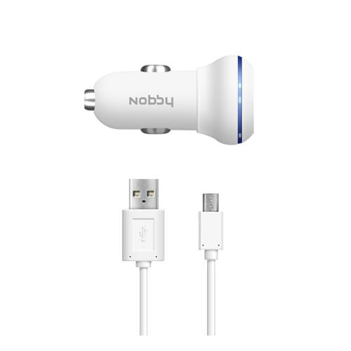 USB Car Charger 1A + microUSB Cable