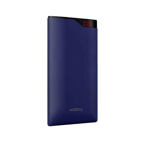 Powerbank Nobby Comfort NBC-PB-08-0 8000mAh, 2USB, 2.1 А, Li-pol, display, soft touch