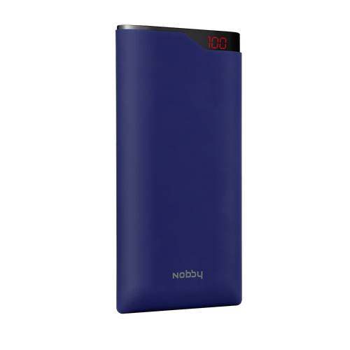 Powerbank Nobby Comfort NBC-PB-12-04 12000mAh, 2USB, 2.1 А, Li-pol, display, soft touch